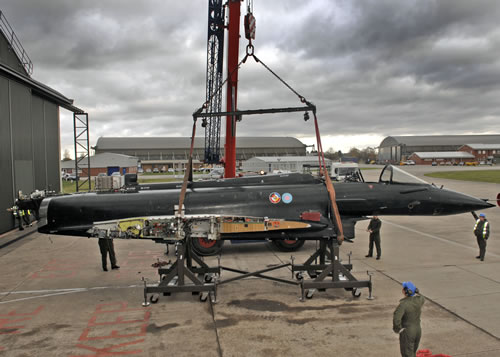 BJW Crane Hire moving Fighter Jet