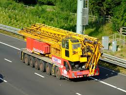 Mobile Tower Crane on Road