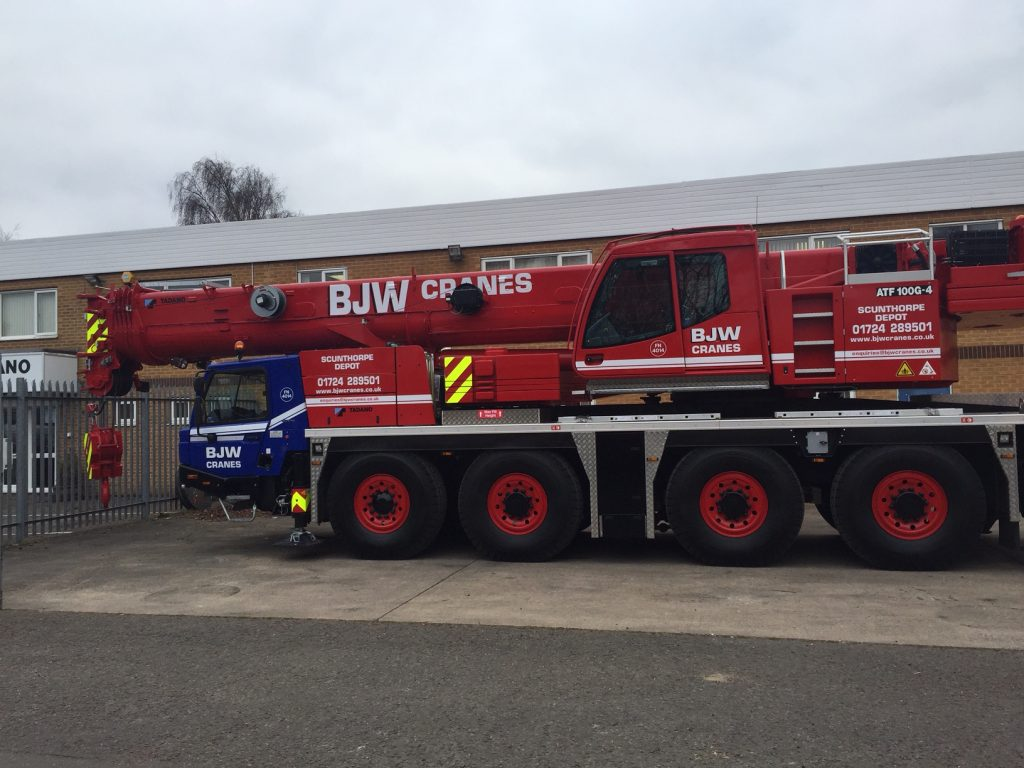Crane Hire Scunthorpe with BJW Cranes
