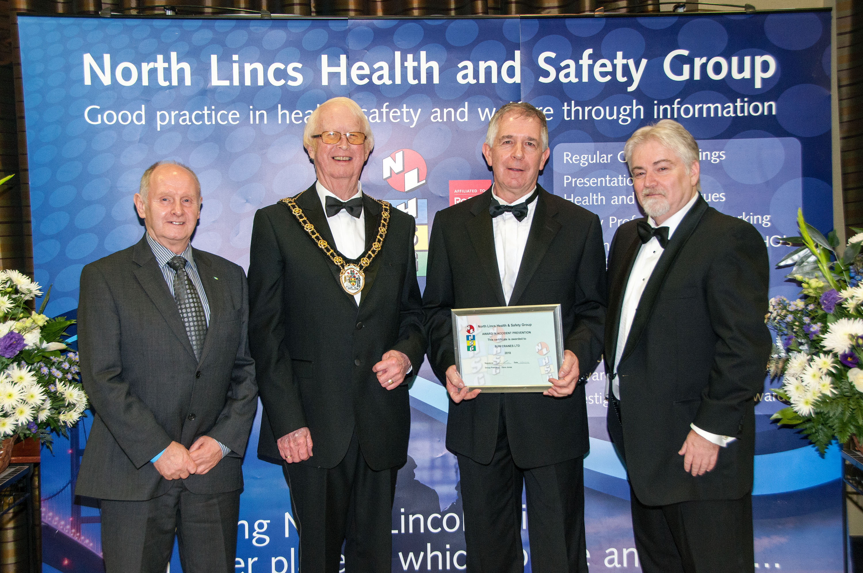 Award For Accident Prevention BJW Cranes